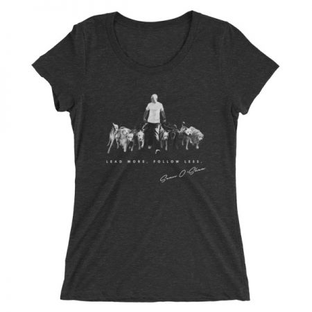 T-Shirt - Lead More Follow Less - (Womens)